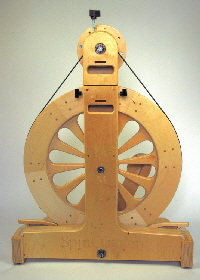 Spinolution Mach 3 spinning wheel - rear view